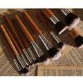 2016 nuevo pincel de maquillaje 11 Unids Asas De Bambú Natural Super Suave Pincel de Maquillaje Profesional Cosméticos Fundación Mezclando Herramientas