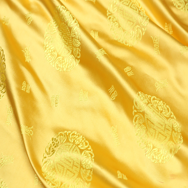 Attirant New Fashion Jacquard Fabric African Satin Silk Fabric For Patchwork,wedding  Dress,upholstery Fabric
