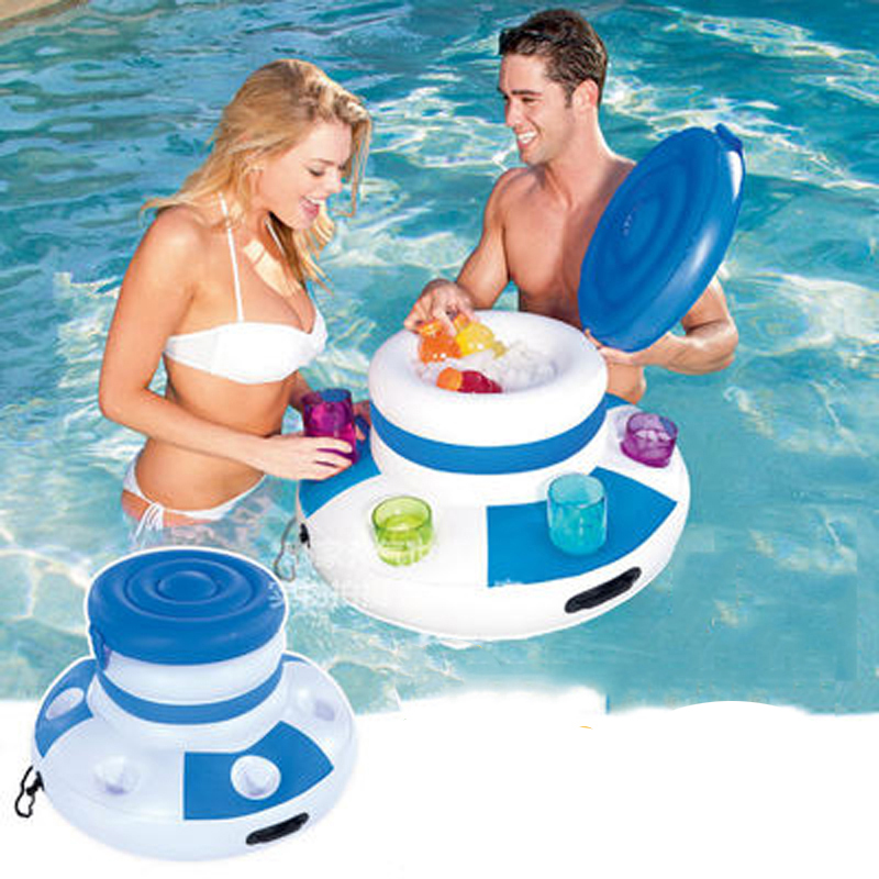 Inflatable Water Ice Bucket Beer Drink Supplier Pool Float Swimming Float For Adult Raft Swim Ring Summer Water Fun Pool Toys