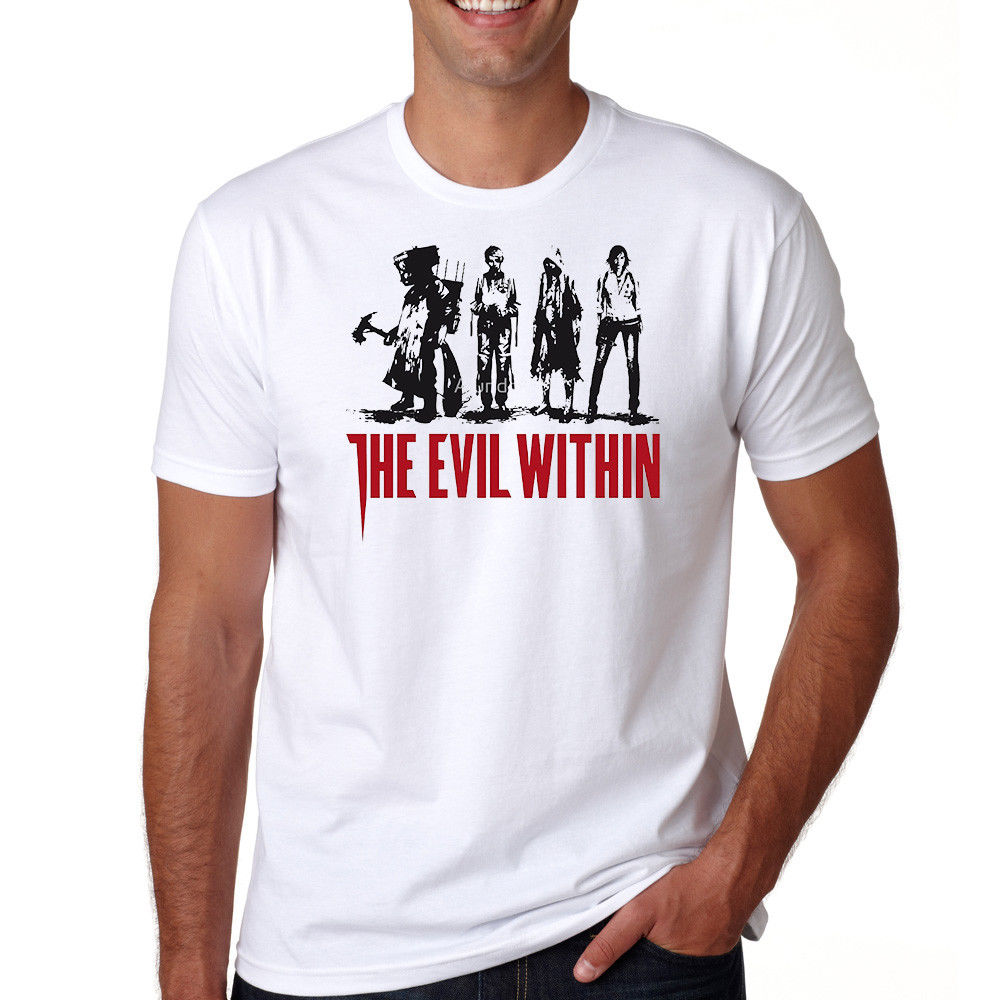 The Evil Within Tee Survival Horror Video Game S-3XL T-Shirt Short Sleeves Cotton T Shirt Free Shipping TOP TEE
