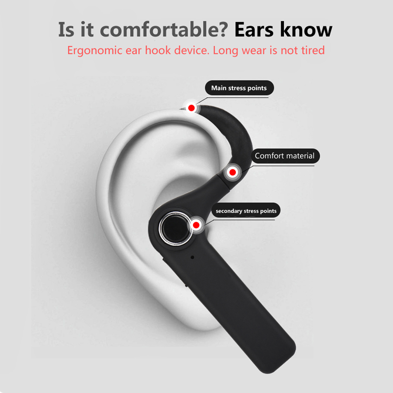Business Bluetooth Headset Sports Wireless Earphone Bluetooth V4 1 Phone  Handsfree MIC Music for iPhone Xiaomi for Samsung-in Bluetooth Earphones &