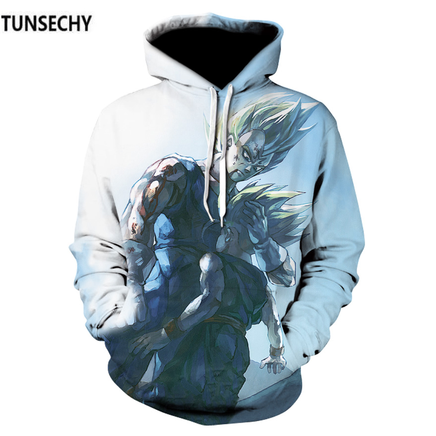 TUNSECHY Europe United States the fall and winter of the new 3D digital printing dragonball sun wukong Hoodies & Sweatshirts