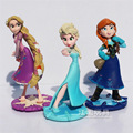 Frozen Figures 3Pcs/Lott 10CM Princess Elsa Anna Rapunzel Action Figure PVC Toy Collectible Decoration Best Birthday Gift Kids