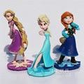 Valores congelados 3 Pcs/Lott 10 CM Rapunzel Princesa Elsa Anna Toy PVC Action Figure Collectible Decoração Melhor presente de Aniversário Caçoa o presente