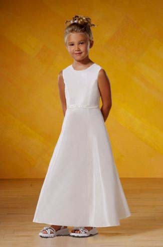 Long White Flower Girls Dresses For Wedding Gowns Fashion Girl Birthday Party Dress Ankle-Length Summer Mother Daughter Dresses flower girls dresses for wedding gowns white girl birthday party dress ankle lenght kids prom dresses long mother daughter dress