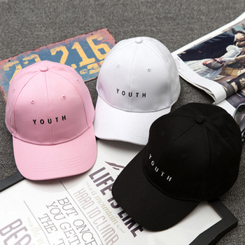 Men Women Embroidery Baseball Cap Youth Letters Baseball Cap Events Team Hat Girls Sun Hat Leisure image
