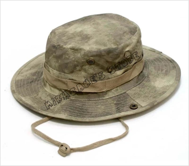 Men Women Camouflage Military Bonnie Hat Bucket Cap Camping Hunting Fishing  Hiking Sun Cap Bonnie Hat c50b3c20016e