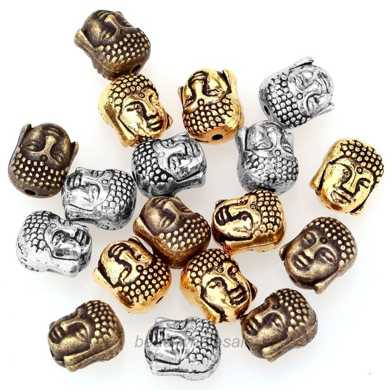 Whole Factory Price 20pcs Metal Silver Buddha Beads Gold Tibetan Er For Bracelet Jewelry Making 10x8mm In From