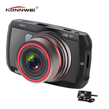 3 inches Full HD1080p  Camera Car Dvr Dash Cam The Camera Automotive Car Video Recorder   Mirror Recorder Starlight night vision