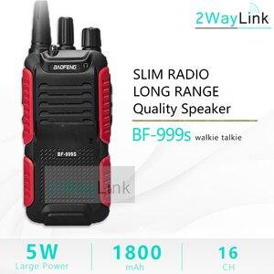 Image 1 - חם 5W Baofeng bf 999s בתוספת Walkies Uhf רדיו 999(2) שתי דרך רדיו משדר לביטחון, מלון, בשר חזיר BF999s עדכון של 888s