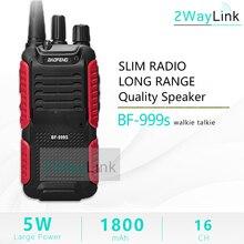 Quente 5 w baofeng bf 999s plus walkies uhf rádio 999(2) transceptor de rádio em dois sentidos para segurança, hotel,ham bf999s atualização de 888s