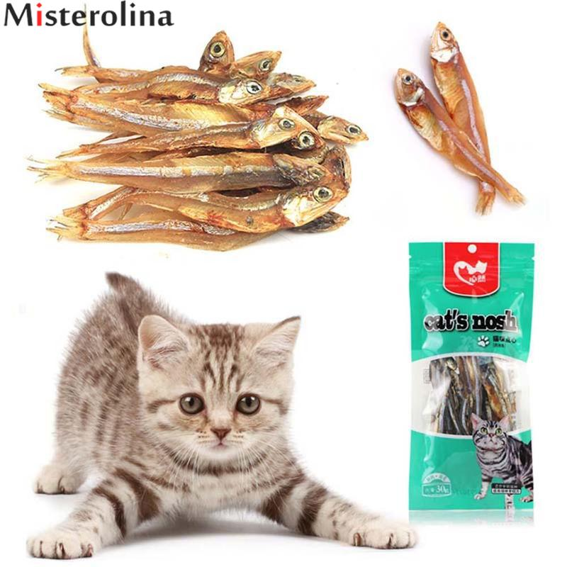 30g/ Bag Dried Whole Fish 100% Natural Tasty Cat Dog Puppy Fish Treats High Quality Cat Snacks Food CML3498