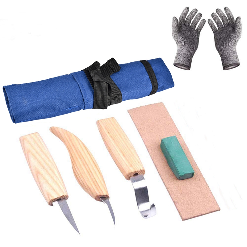 5Pcs Wood carving Cutter Set Diy Hand Chisel Carving Tools Chip Knives Woodworking Gouge Chisels