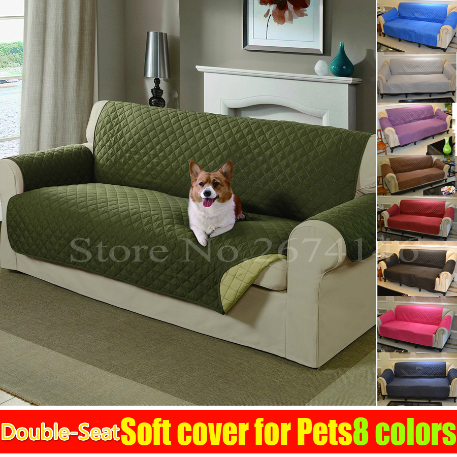 free shipping dog doubleseat sofa reversible furniture protector features for cats pet nonslip chair