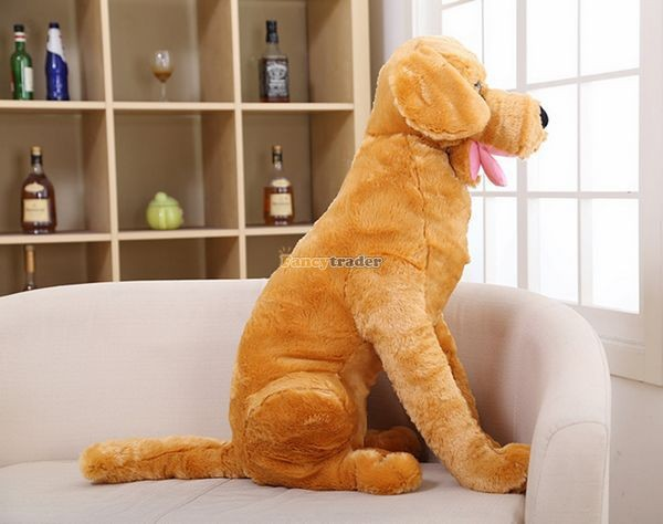 Fancytrader 37\'\' 95cm Lovely Soft Cute Plush Giant Emulational Brown Dog Toy, Free Shipping FT50191(16)