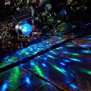 Image 3 - Słoneczna lampa projektora RGB obrotowa kryształowa magiczna kula świąteczna scena dyskoteki światło trawnik zewnętrzny krajobraz ścieżka oświetlenie zewnętrzne