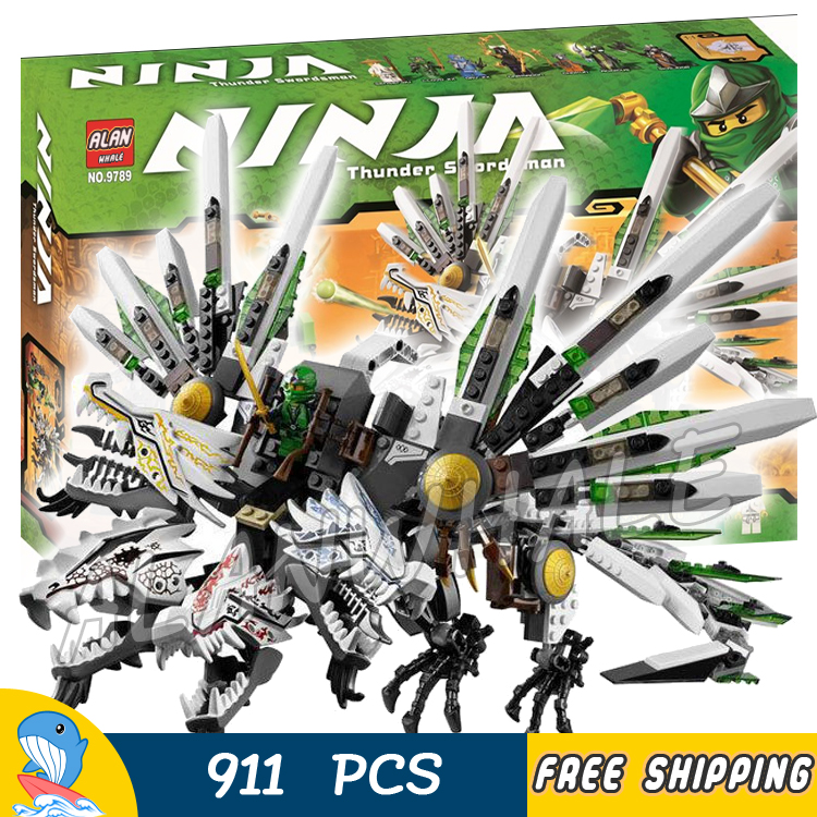 911pcs Ninja Epic Ultra Dragon Battle Great Devourer Snake Prison 9789 Model Building Blocks Toys Bricks Compatible With lego bela 911pcs ninjagoes epic dragon battle building block set jay zx chokun minifigures kids toy compatible with legoes 9450