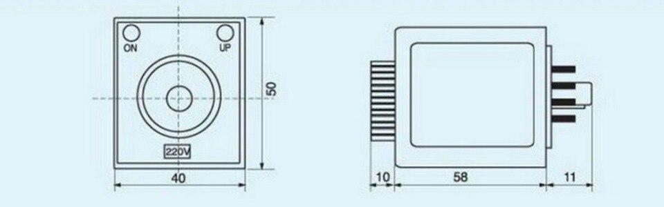 110V Power On Delay AH3-3 Timer 0-30 sec Relay With Socket Base PF083A 8PINS