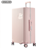 High Quality Colorful Waterproof Hard Shell Luggage PC Material Travel Bag Suitcase Trolley Hand Cabin Ride On Luggage Case Set