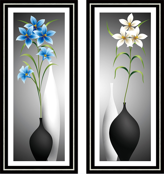 New!DIY 5D diamond embroidery Round Diamond Cross Stitch Orchids and Narcissus Diamond painting