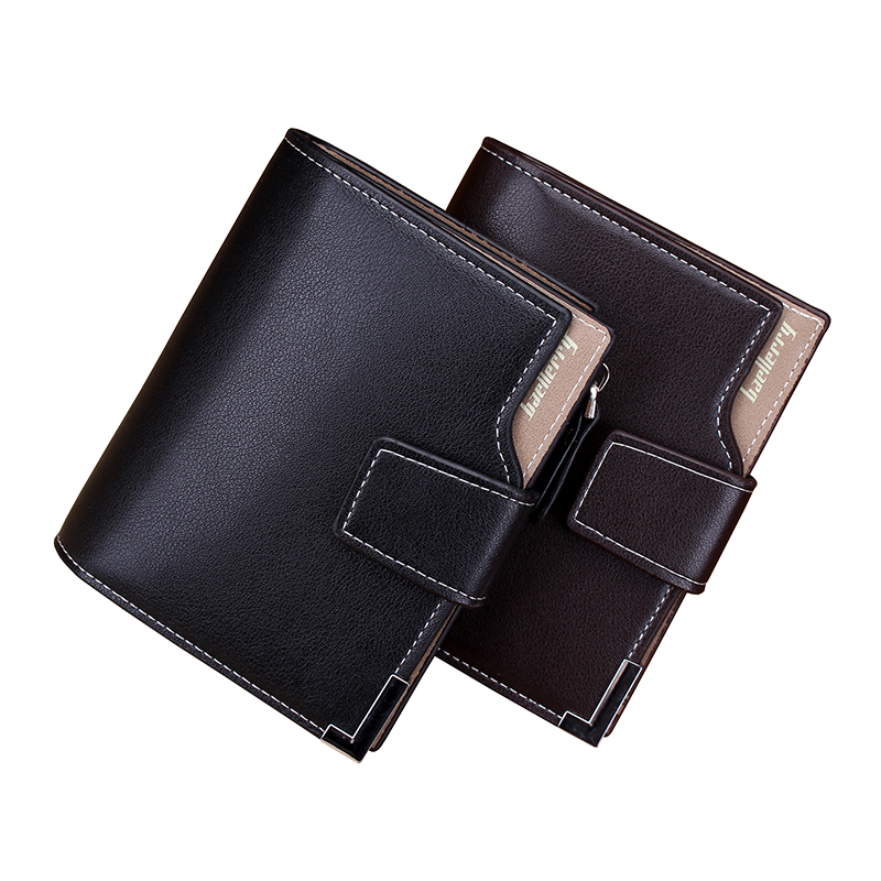 Brand Fashion Men Short Wallets  Bifold Genuine  Leather Card Holder Bag Hasp Zipper Pouch Quality Men's Purses Coin Pocket Case simline fashion genuine leather real cowhide women lady short slim wallet wallets purse card holder zipper coin pocket ladies