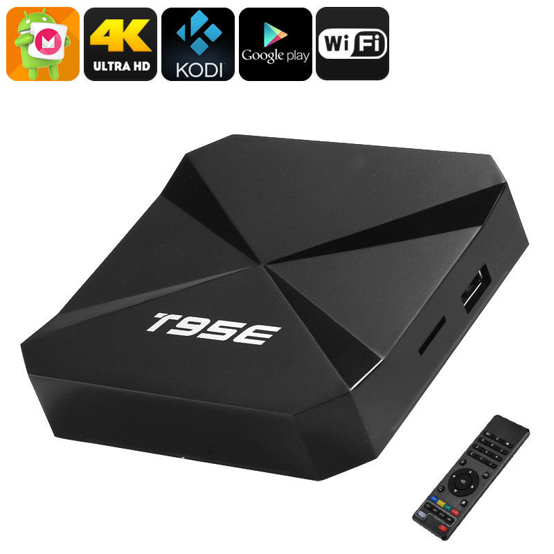 DJYG T95E Rock chip RK3229 Quad-Core Android 6.0 TV BOX 2GB/8GB WiFi Google Play Store Pre-installed Media Player IPTV Box m8 fully loaded xbmc amlogic s802 android tv box quad core 2g 8g mali450 4k 2 4g 5g dual wifi pre installed apk add ons