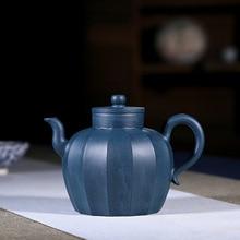 Yixing название Yixing Полный ручной Mu древний веер Пэн Сюань лазурный грязевой чайный кунг-фу интернет-Путешествия Чайный набор чайник