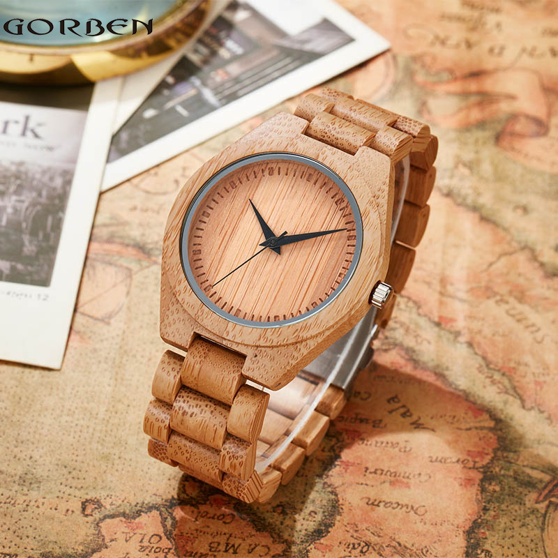 Women Deer Bamboo Wrist Watch Dress Style Female Ladies Watches Simple Stylish Round Wooden Quartz Watches Wooden Strap Watches aa wooden watches w1 orange aa wooden watches