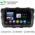 HD 1024*600 ROM 16 ГБ Quad Core Android 5.1.1 Автомобильный DVD GPS Подходит Kia Sorento 2012 2013 2014 Sorento Стерео Радио 4 Г Wi-Fi OBD DVR