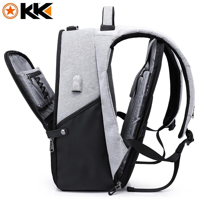 Кака Мода Мужской рюкзак для путешествий для сумка для ноутбука 15,6 USB для подзарядки большой Ёмкость Anti theft школьный рюкзак мужской Mochila