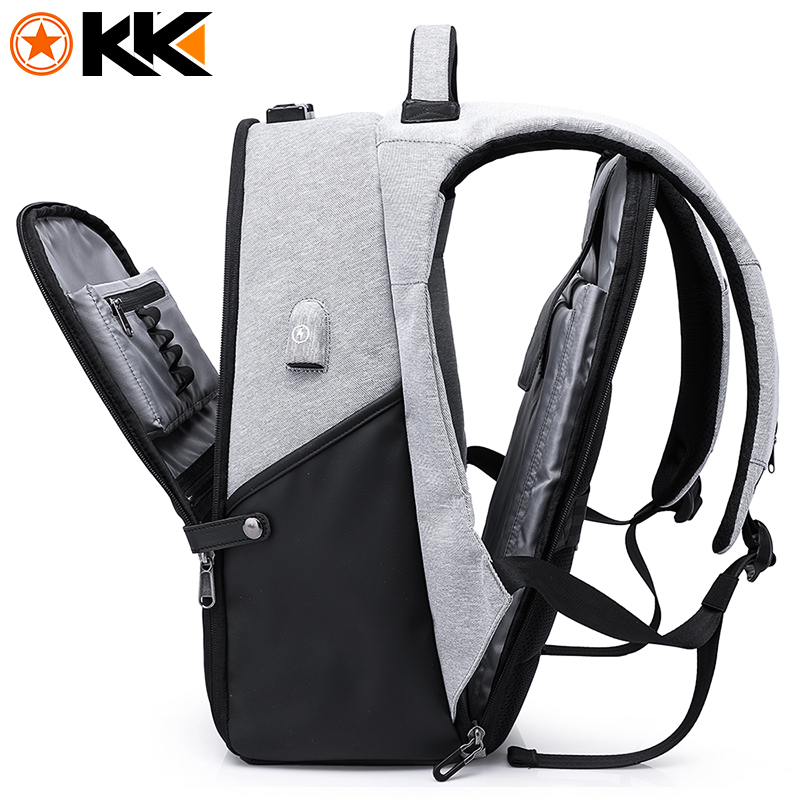 KAKA Fashion Function Men Backpack for Laptop Bag 15.6″ Large Capacity USB Recharging Computer Anti theft Backpack Male Mochila