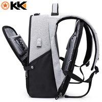 KAKA New 15 6inch Laptop Backpack Male USB Business Anti Theft Backpack For Men Mochila Fashion