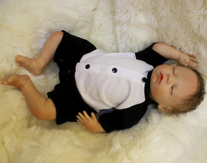 Image 3 - OtardDolls Bebe Reborn Puppen 18 zoll Reborn Baby Puppe Weichen Vinyl Silicon Newborn Puppe bonecas Panda Kleidung Für Kinder Geschenke