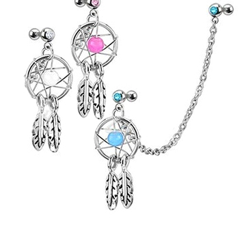 Supreme Fashion Girl s Body Jewelry Dream Catcher Star Helix Tragus Chain Nose Ear Cartilage Stud.jpg 350x350 - Supreme Fashion Girl's Body Jewelry Dream Catcher Star Helix Tragus Chain Nose Ear Cartilage Stud Earring Lips 64T6