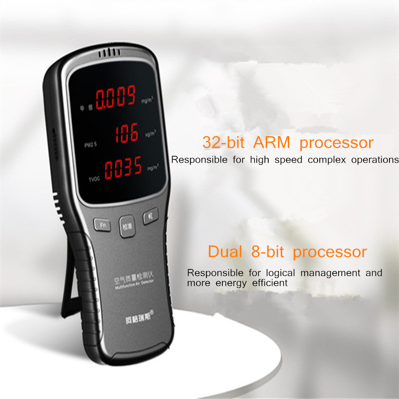 6-in-1 WP6910 PM1.0 PM2.5 PM10 Meter HCHO Meter Air Detector With Rechargeable Lithium Battery
