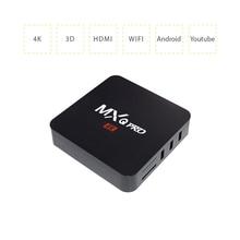 TV BOX RAM RK3229 Kodi 17.4 MXQ PRO 1G RAM +8G ROM Android 6.0 TV Box HDMI 2.0 H.265 4K WIFI Smart Media Player