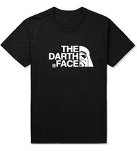New 2015 Brand Fashion Summer Men's Casual and Cotton Man Star Wars T-Shirt The Darth Face T Shirts O-Neck Male Sporting Tshirt