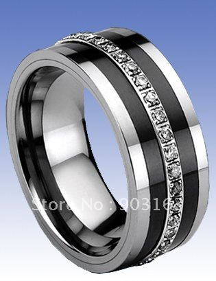 Whole Por Best Ing Father S Day New Arrival 9mm Tungsten Ceramic Wedding Band Gift Ring Cz By Ems Shipping In Rings From Jewelry Accessories