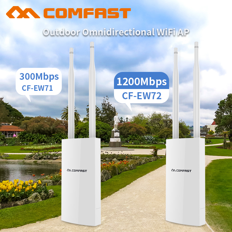 Outdoor WIFI Router 300/1200Mbps Dual-Band 2.4G/5G Omnidirect Antenna Extender Wireless WiFi Repeater Access Point Wi fi base AP outdoor powerful 1300mbps gigabit weatherproof repeater wifi extender access point router wisp antenna directional wi fi ap