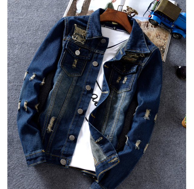 New Arrival Winter Autumn Men Jean coat Thin Denim Jacket Men's Jean Jacket Slim cotton Parka