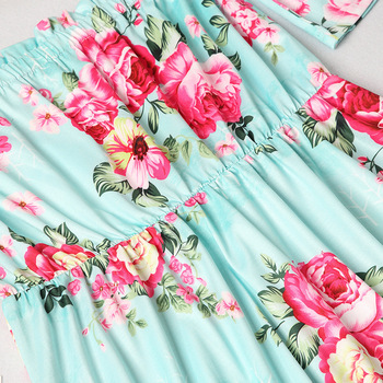 off shoulder mother mom and daughter dresses family matching outfits mommy and me clothes family look floral mum mama baby dress 5