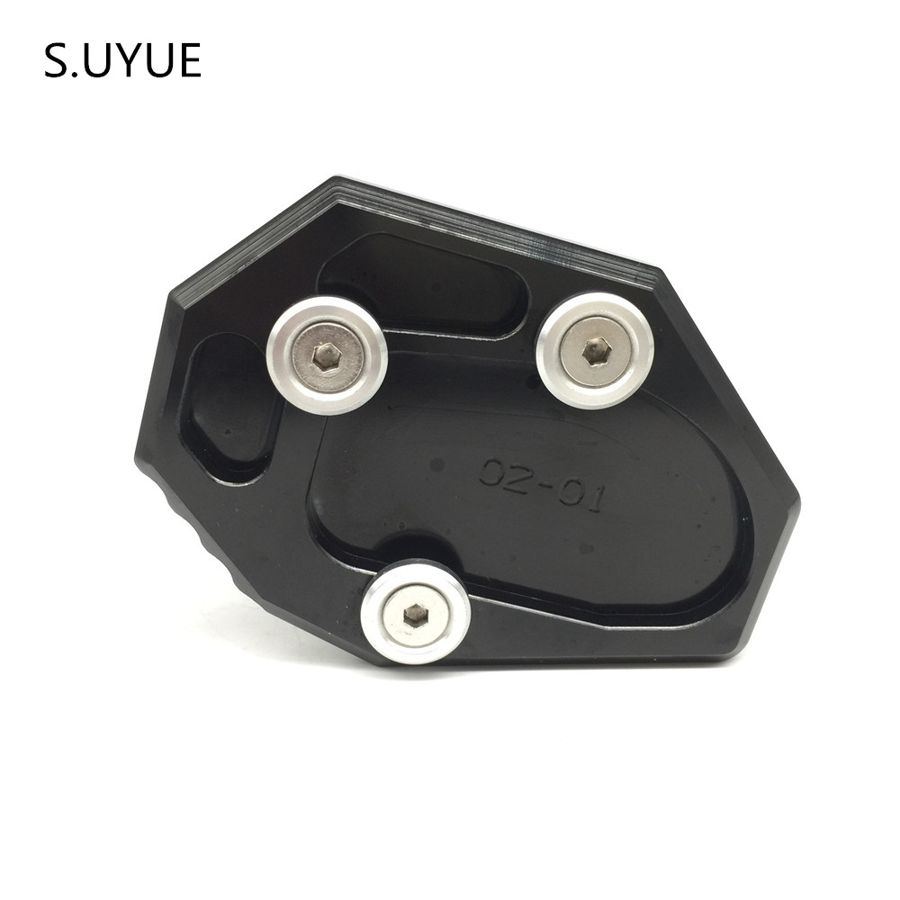 S.UYUE Kickstand Side Stand Pad for Yamaha FZ09 MT09 2013 2014 2015 FZ MT 09 NEW for yamaha mt09 mt 09 mt 09 2013 2015 2014 new motorcycle parts kickstand foot side stand enlarge extension pad support plate