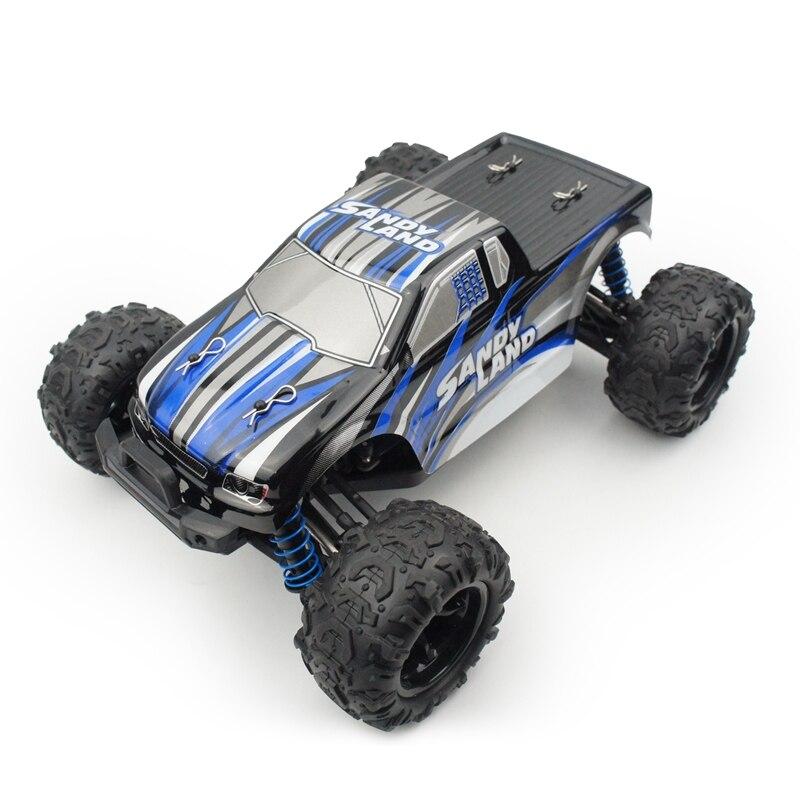 1/18 2.4 Ghz Hoge Snelheid Radio Afstandsbediening Rc Terrein Auto Woestijn Truck Speelgoed Blauw