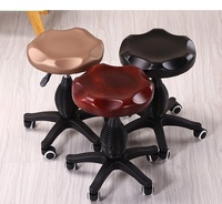 European Salon Lift Stool Retail Christmas Party Stool Wholesale Brown Gold Black Coffee Color Dressing Room