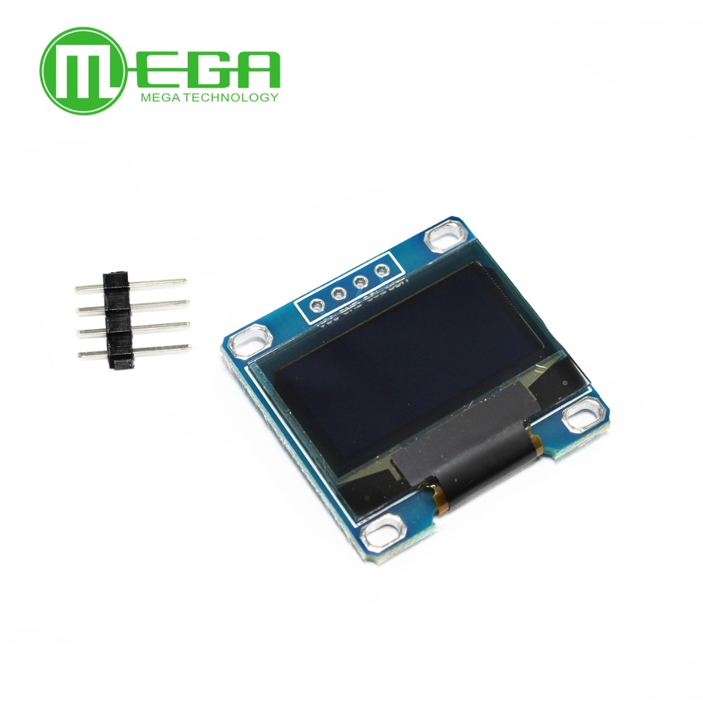 10pcs 4pin 0.96white 0.96 inch OLED module New 128X64 OLED LCD LED Display Module For Arduino 0.96 IIC I2C Communicate