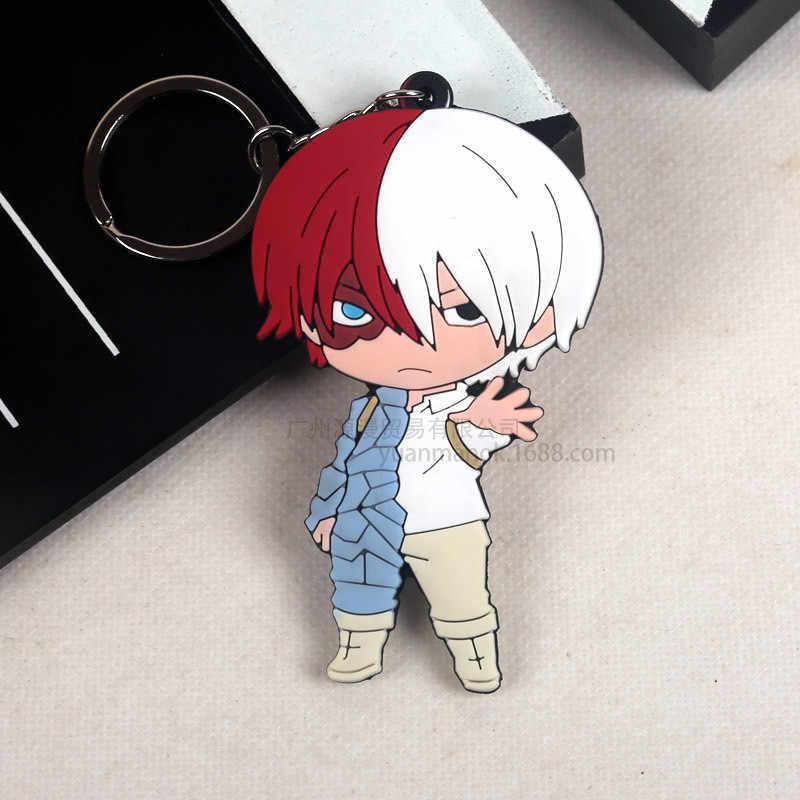 Llavero barato de mi héroe de la Academia lindo 4 estilos llaveros colgante accesorios de Anime de dibujos animados llavero suave Chaveiro