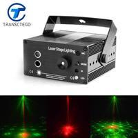 Comparar Luz de Disco TRANSCTEGO láser Led de escenario Lumiere 48 en 1 RGB proyector Fiesta de DJ luces de sonido Mini lámpara láser lámparas de barra estroboscópica