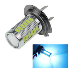 Ice Blue 33 SMD 5730 33SMD LED H7 Fog Bulb Parking Lamp Daytime Running light PX26d(China)