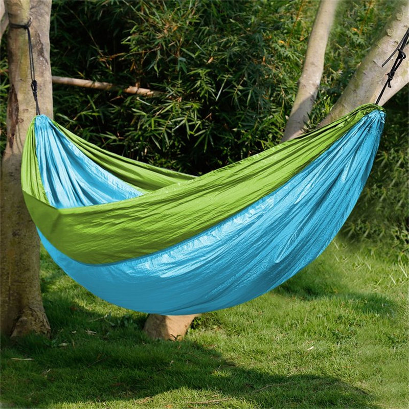 320*200CM Hammock Double Person Camping Survival garden hunting Leisure travel furniture Parachute Hammocks outdoor furniture portable nylon parachute double hammock garden outdoor camping travel furniture survival hammock swing sleeping bed for 2 person