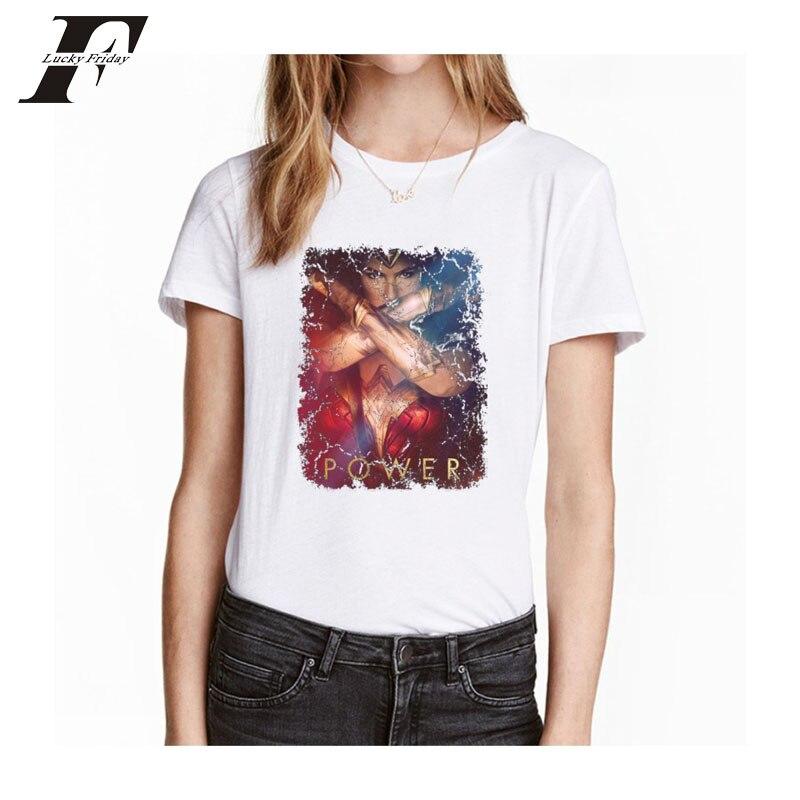 2017 Harajuku Wonder Woman женский футболка Для женщин o Средства ухода за кожей шеи летняя футболка 3D печатных футболка S Топы Wonder Woman Большие размеры